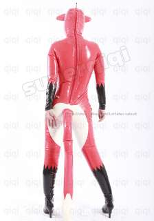 Latex/Rubber 0.45mm Inflatable Fox Catsuit zentai suit bodysuit