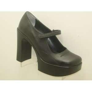 Platform Leather Black Women Shoes