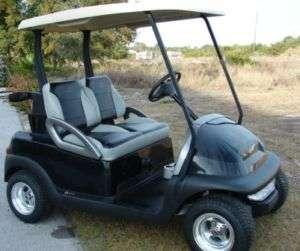 Custom Yamaha Golf Cart Two Toned Bucket Seats
