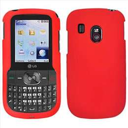 Red Rubberized Hard Case Cover for Tracfone LG 500G P4 DM PDA