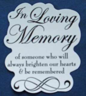 IN LOVING MEMORY Wedding Ceremony CANDLE DECAL