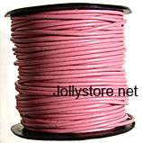Pink Genuine Leather Cord 1mm x 25 yds. crafts beading