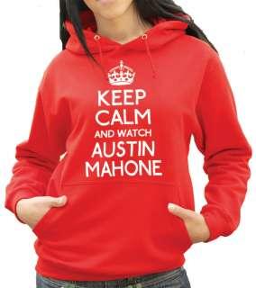 Keep Calm and Watch Austin Mahone Hoody   Mahomies Hoodie or Hooded