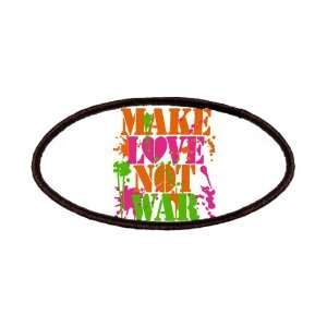 Patch of Make Love Not War Peace Symbol Sign