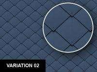 Colored Diamond Metal Roof Tiles Texture Sheet