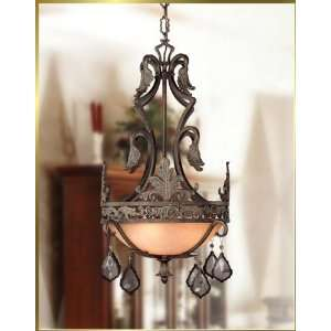 Wrought Iron Chandelier, JB 7035, 3 lights, Bronze, 18