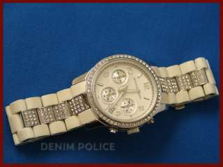 MICHAEL KORS MK5209 Womens Chronograph Watch Rubber & Stainless Steel