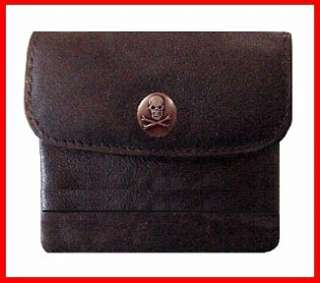 Ladys Skull Leather Coin Purse ID Credit Card wallet
