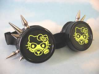 Gas Mask Hello Kitty Cosplay Cyber Goth Punk Emo Style