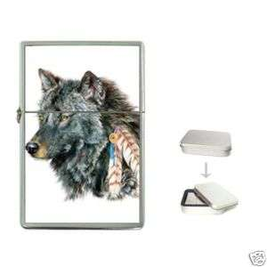 Wolf New RARE Custom Cigarette Flip Top Lighter
