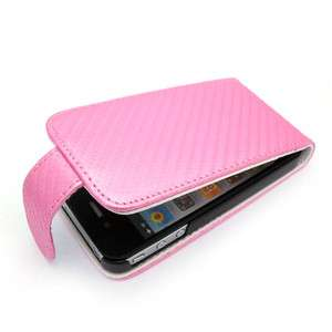 Pink Leather Case Pouch Cover Holster Clip For Apple Iphone 4 4G Cell