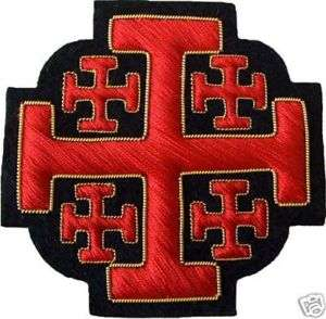 HERALDRY JERUSALEM CRUSADERS TAU CROSS EMBLEM (ME 062)