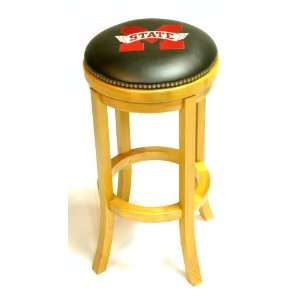 Mississippi State Wooden Bar Stool