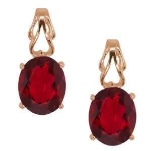 4.60 Ct Oval Ruby Red Mystic Quartz Gold Plated Sterling