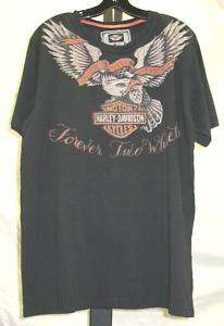 Mens Harley Davidson Black INK Line T Shirt 96539 10VM