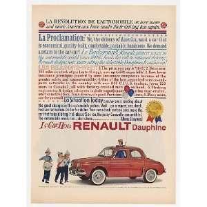 1960 Renault Dauphine La Revolution Print Ad (23805)