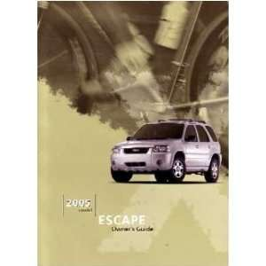 2005 FORD ESCAPE Owners Manual User Guide