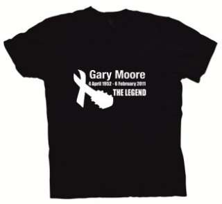 GARY MOORE   THIN LIZZY   TRIBUTE T SHIRTS   THE LEGEND