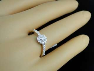 14K LADIES WHITE GOLD DIAMOND ENGAGEMENT SOLITAIRE RING
