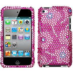 Candy Flowers Apple iPod Touch 4 Rhinestone Case