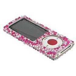 Pink Zebra Full Rhinestone Case for Apple iPod Nano 5