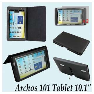 Folio Leather Case Cover+Screen Protector For 10.1 Archos 101