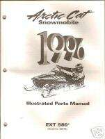 1996 ARCTIC CAT EXT 580 SNOWMOBILE PARTS MANUAL