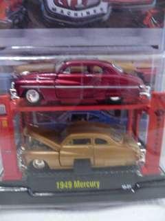 M2 Machines 1949 MERCURY Auto Lift 2 Pk GOLD CHASE Red