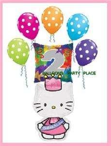 HELLO KITTY 2ND birthday polka dot balloon PRINCESS TWO