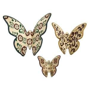 Charming Eclectic Cottage Ceramic Butterfly Wall Decor