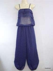 New Casual Long Maxi Dress Pants Jumpsuit NavyBlue,XS M