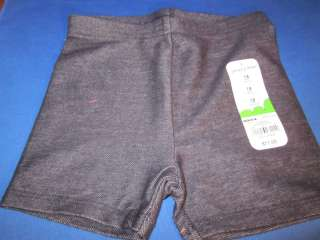 New With Tags Jumping Beans Denim Bike Shorts Girls Size 18 months
