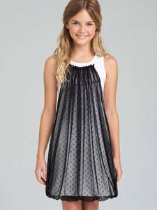US Angels Blush Black Bubble & Ivory Tank Top Dress Sizes 7 12 $89