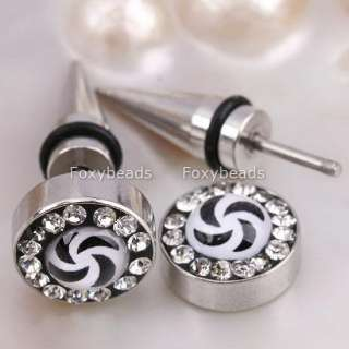 Cool 361L Stainless Steel Mens Spike Earring Stud #1Pc