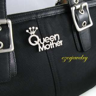 NEW CROWN QUEEN MOTHERS DAY MOM BROOCH PIN JEWELRY P264