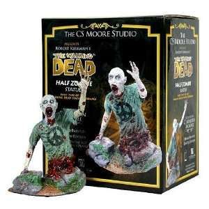 WA Walking Dead Half Zombie Statuette Signed by Clayburn