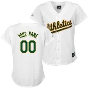 Oakland Athletics Womens Replica Home Personalized Jersey