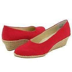 Fitzwell Westport Red Canvas Pumps/Heels