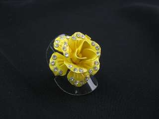 NEW WHOLESALE LOT OF ROSE CRYSTAL FASHION JEWELRY RINGS