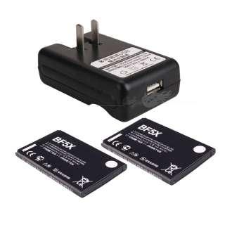 BF5X Li ion Battery+ Dock Wall AC Charger For Motorola Droid 3 XT862