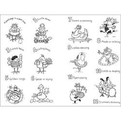 Penny Black 12 Days of Christmas Clear Stamp Set