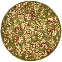 Lyndhurst Collection Floral Sage Rug (5 3 Round)