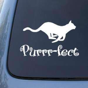PURRR FECT CAT   Vinyl Car Decal Sticker #1547  Vinyl