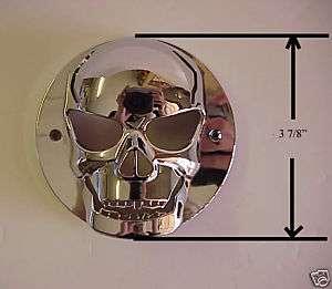 Small chrome plastic Skull Tail Light Lense Cover 1ea