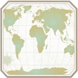WORLD MAP 12x12 DIE CUT scrapbooking paper