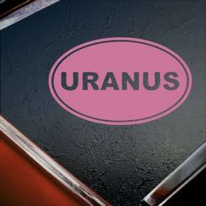 Uranus Euro Ovel Pink Decal Car Truck Window Pink Sticker