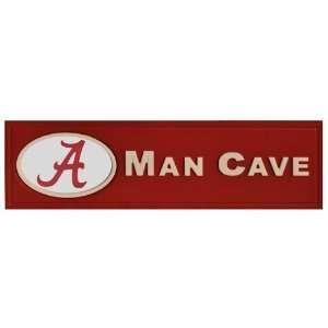 Alabama Crimson Tide Bama Man Cave Wooden Bar Sign