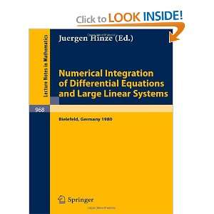 Numerical Integration of Differential Equations and Large