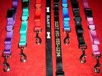 Embroidered Personalized Matching Dog Collar & Leash