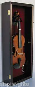 Violin Bow Music Display Case Cabinet Wall Rack Hanger